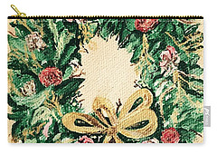 A Wreath  Carry-all Pouch