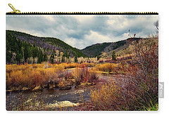 A Wyoming Autumn Day Carry-all Pouch by L O C