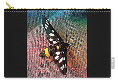 A Yellow Belted Burnet Carry-all Pouch