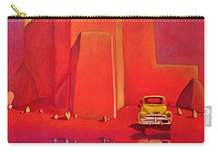A Yellow Truck With A Red Moon In Ranchos Carry-all Pouch