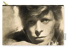 Carry-all Pouch featuring the digital art A Young David Bowie by Anthony Murphy