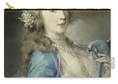 A Young Lady With A Parrot Carry-all Pouch
