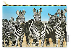 A Zeal Of Zebras Carry-all Pouch