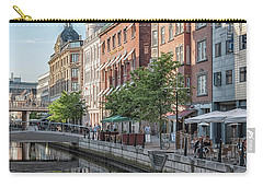 Carry-all Pouch featuring the photograph Aarhus Afternoon Canal Scene by Antony McAulay