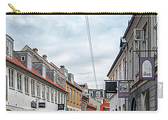 Carry-all Pouch featuring the photograph Aarhus Backstreet Scene by Antony McAulay