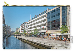 Carry-all Pouch featuring the photograph Aarhus Canal Activity by Antony McAulay