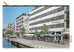 Carry-all Pouch featuring the photograph Aarhus Canal Scene by Antony McAulay