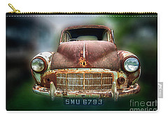 Carry-all Pouch featuring the photograph Abandoned Car by Charuhas Images