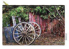 Carry-all Pouch featuring the photograph Abandoned Cart by Jim and Emily Bush
