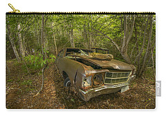 Abandoned Chevelle In Cape Breton Carry-all Pouch by Ken Morris
