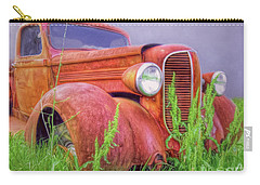 Carry-all Pouch featuring the photograph Abandoned Chrysler Truck by Marion Johnson