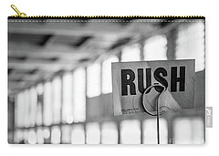 Carry-all Pouch featuring the photograph Abandoned Factory, Lewiston, Maine  -48683-bw by John Bald