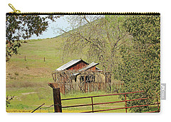 Carry-all Pouch featuring the photograph Abandoned Homestead by Art Block Collections