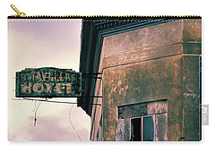 Carry-all Pouch featuring the photograph Abandoned Hotel by Jill Battaglia