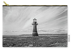 Carry-all Pouch featuring the photograph Abandoned Light House Whiteford by Edward Fielding