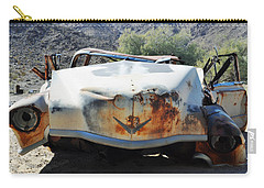 Carry-all Pouch featuring the photograph Abandoned Mojave Auto by Kyle Hanson