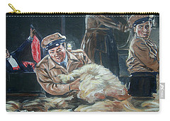 Carry-all Pouch featuring the painting Abbott And Costello Meet Frankenstein by Bryan Bustard