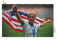 Abby Wambach Us Soccer Carry-all Pouch by Semih Yurdabak