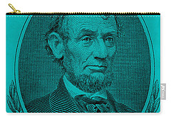 Carry-all Pouch featuring the photograph Abe On The 5 Aqua Blue by Rob Hans