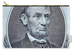 Carry-all Pouch featuring the photograph Abe On The 5 Cyan by Rob Hans