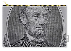 Carry-all Pouch featuring the photograph Abe On The 5 Gray by Rob Hans