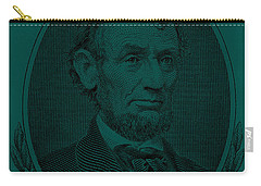 Carry-all Pouch featuring the photograph Abe On The 5 Greenishblue by Rob Hans