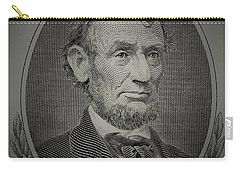 Carry-all Pouch featuring the photograph Abe On The 5 Grey by Rob Hans