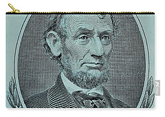 Carry-all Pouch featuring the photograph Abe On The 5 Lite Blue by Rob Hans