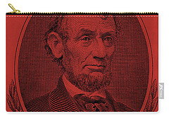 Carry-all Pouch featuring the photograph Abe On The 5 Orange by Rob Hans