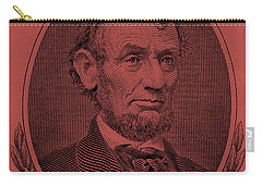 Carry-all Pouch featuring the photograph Abe On The 5 Peach by Rob Hans