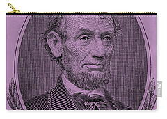 Carry-all Pouch featuring the photograph Abe On The 5 Pink by Rob Hans