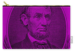 Carry-all Pouch featuring the photograph Abe On The 5 Purple by Rob Hans