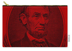 Carry-all Pouch featuring the photograph Abe On The 5 Red by Rob Hans
