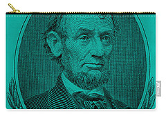 Carry-all Pouch featuring the photograph Abe On The 5 Turquoise by Rob Hans
