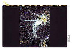 Carry-all Pouch featuring the photograph Aberration Of Jelly Fish In Rhapsody Series 2 by Antonia Citrino