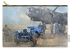 Able Mable And The Blue Lagonda  Carry-all Pouch by Peter Miller