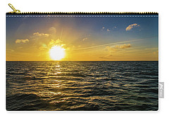 Carry-all Pouch featuring the photograph Aboard A Danger Charter Sunset Cruise In Key West by Bob Slitzan