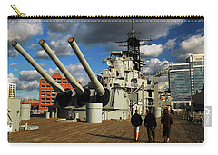 Carry-all Pouch featuring the photograph Aboard The Uss Wisconsin by James Kirkikis