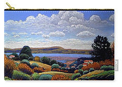 Carry-all Pouch featuring the painting Above San Mateo by Gary Coleman