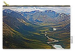 Carry-all Pouch featuring the painting Above The Arctic Circle by John Haldane