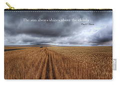 Carry-all Pouch featuring the photograph Above The Clouds by Lynn Hopwood