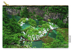 Above The Paths And Waterfalls At Plitvice Lakes National Park, Croatia Carry-all Pouch