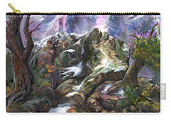 Carry-all Pouch featuring the painting Above The Timberline by Sherry Shipley