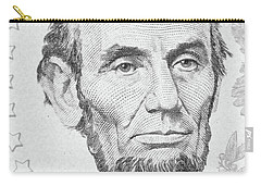 Carry-all Pouch featuring the photograph Abraham Lincoln by Les Cunliffe