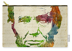 Abraham Lincoln Watercolor Carry-all Pouch