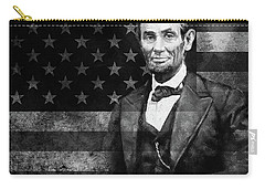 Abraham Lincoln With American Flag  Carry-all Pouch by Gull G