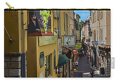 Carry-all Pouch featuring the photograph Absinthe In Antibes by Allen Sheffield