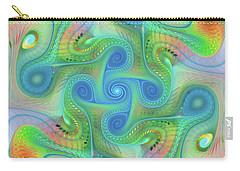 Carry-all Pouch featuring the digital art Abstract Gnarl by Deborah Benoit