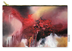 Carry-all Pouch featuring the painting Abstract #02 by Raymond Doward