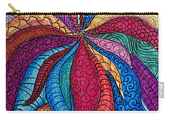 Carry-all Pouch featuring the drawing Abstract 1 by Megan Walsh
